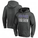 Men's Baltimore Ravens Heather Charcoal Stronger Together Printed Pullover Hoodie 0727