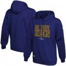 Men's Baltimore Ravens Purple School of Hard Knocks Pullover Hoodie