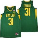 Men's Baylor Bears #31 MaCio Teague Green College Baskebtall Jersey