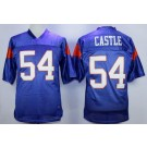Men's Blue Mountain State #54 Kevin Thad Castle Blue Football Jersey