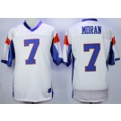 Men's Blue Mountain State #7 Alex Moran White Football Jersey