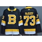 Men's Boston Bruins #73 Charlie McAvoy Black Third Authentic Jersey