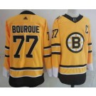 Men's Boston Bruins #77 Ray Bourque Gold 2021 Reverse Retro Authentic Jersey