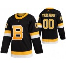 Men's Boston Bruins Customized Black Alternate Authentic Jersey