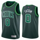 Men's Boston Celtics #0 Jayson Tatum Green 2021 Earned Icon Hot Press Jersey