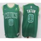 Men's Boston Celtics #0 Jayson Tatum Green 2021 Earned Icon Sponsor Swingman Jersey