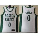Men's Boston Celtics #0 Jayson Tatum White 2021 City Icon Swingman Jersey