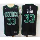 Men's Boston Celtics #33 Larry Bird Black Statement Icon Sponsor Swingman Jersey