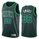 Men's Boston Celtics #36 Marcus Smart Green 2021 Earned Icon Hot Press Jersey