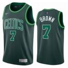Men's Boston Celtics #7 Jaylen Brown Green 2021 Earned Icon Hot Press Jersey
