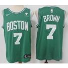 Men's Boston Celtics #7 Jaylen Brown Green Icon Sponsor Swingman Jersey