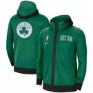 Men's Boston Celtics Green Showtime Performance Full Zip Hoodie Jacket