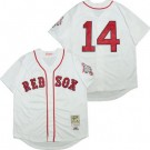 Men's Boston Red Sox #14 Jim Rice White 1987 Throwback Jersey