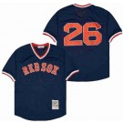 Men's Boston Red Sox #26 Wade Boggs Navy Mesh Throwback Jersey