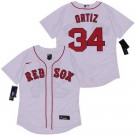 Men's Boston Red Sox #34 David Ortiz White 2020 FlexBase Jersey