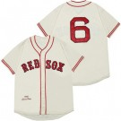 Men's Boston Red Sox #6 Johnny Pesky Cream 1946 Throwback Jersey