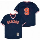 Men's Boston Red Sox #9 Ted Williams Navy Mesh Throwback Jersey