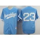 Men's Brooklyn Dodgers #23 Adrian Gonzalez Light Blue Throwback Jersey