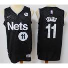Men's Brooklyn Nets #11 Kyrie Irving Black 2021 Earned Icon Sponsor Swingman Jersey