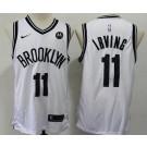 Men's Brooklyn Nets #11 Kyrie Irving White Icon Sponsor Swingman Jersey