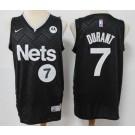 Men's Brooklyn Nets #7 Kevin Durant Black 2021 Earned Icon Sponsor Swingman Jersey