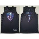 Men's Brooklyn Nets #7 Kevin Durant Black Iridescent Holographic Icon Swingman Jersey