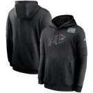 Men's Buffalo Bills Black Crucial Catch Sideline Performance Pullover Hoodie