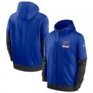 Men's Buffalo Bills Blue Sideline Impact Lockup Performance Full Zip Pullover Hoodie