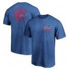 Men's Buffalo Bills Iconic Retro Diamond Scroll Printed T-Shirt 0989
