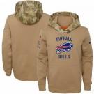 Men's Buffalo Bills Khaki 2019 Salute to Service Therma Printed Pullover Hoodie