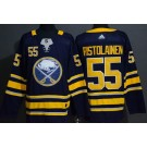 Men's Buffalo Sabres #55 Rasmus Ristolainen Navy Authentic Jersey