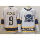 Men's Buffalo Sabres #9 Jack Eichel White 2021 Reverse Retro Authentic Jersey
