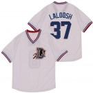 Men's Bull Durham #37 Nuke LaLoosh White Baseball Jersey