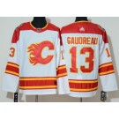 Men's Calgary Flames #13 Johnny Gaudreau White 2019 Heritage Classic Jersey