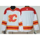 Men's Calgary Flames Blank White 2019 Heritage Classic Jersey