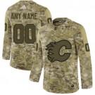Men's Calgary Flames Customized Camo Authentic Jersey