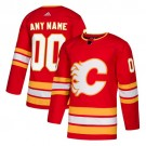 Men's Calgary Flames Customized Red Alternate Authentic Jersey