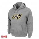 Men's Calgary Flames Gray Printed Pullover Hoodie