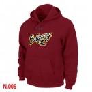Men's Calgary Flames Red Printed Pullover Hoodie