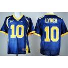 Men's California Golden Bears #10 Marshawn Lynch Blue College Football Jersey