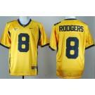 Men's California Golden Bears #8 Aaron Rodgers Gold College Football Jersey