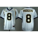 Men's California Golden Bears #8 Aaron Rodgers White College Football Jersey