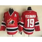 Men's Canada #19 Steve Yzerman Red Hockey Jersey