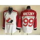 Men's Canada #99 Wayne Gretzky White Hockey Jersey