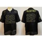 Men's Carolina Panthers #22 Christian McCaffrey Limited Black 2020 Salute To Service Jersey