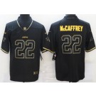 Men's Carolina Panthers #22 Christian McCaffrey Limited Black Gold Vapor Untouchable Jersey