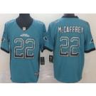 Men's Carolina Panthers #22 Christian McCaffrey Limited Blue Drift Vapor Untouchable Jersey
