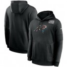 Men's Carolina Panthers Black Crucial Catch Sideline Performance Pullover Hoodie