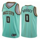 Men's Charlotte Hornets #0 Miles Bridges Green 2021 City Icon Hot Press Jersey