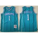 Men's Charlotte Hornets #1 Tyrone Bogues Blue 1992 Hollywood Classic Swingman Jersey